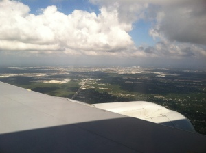 Flying into the Cancun Airport