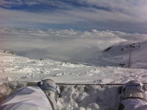 Lene Baxter at Valle Nevado Ski Resort, Chile