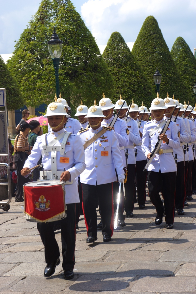 Procession outside the Grand Palace Complex