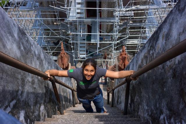 Wat Arun crazy stairs