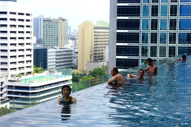 Infinity pool with a great view