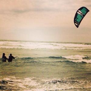 Teaching kiteboarding in Ritoque